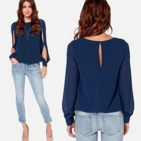 Casual Women Blouses Summer Hollow Out Sleeve Women Tops Plus Size Chiffon Blouse
