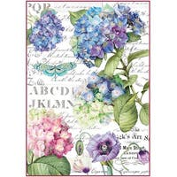 Stamperia Rice Paper Sheet A4-Hortensia & Dragonfly