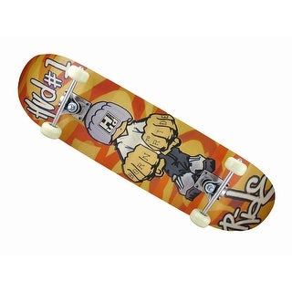 Canadian Maple Born To Ride Graphics Black Grip Top Skateboard - Multicolored