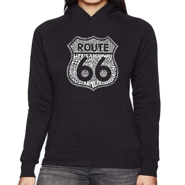 Women's Word Art Hooded Sweatshirt -Route 66 - Life is a Highway. Opens flyout.