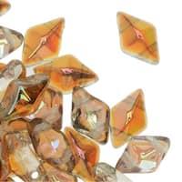 Czech Glass DiamonDuo, 2-Hole Diamond Shaped Beads 5x8mm, 12 Grams, Old Bourbon