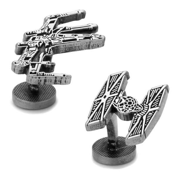 X-Wing and TIE Fighter Battle Ships Cufflinks