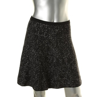 Theory Womens Wool Blend Reversible Flare Skirt