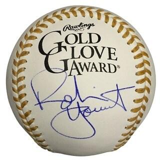 Robin Yount Milwaukee Brewers Signed Rawlings Gold Glove Baseball JSA