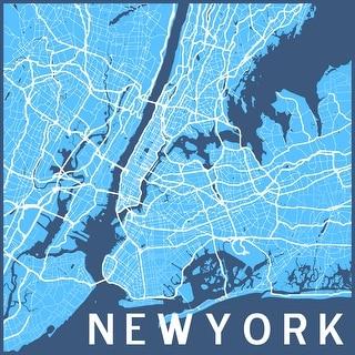 New York (Poster) Minimalist City Maps Matte Poster 24x24