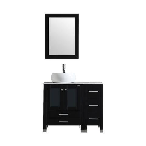 Single Sink Bathroom Vanity Set with Free Mirror