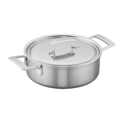 Demeyere Industry 5-Ply 4-qt Stainless Steel Deep Saute Pan - Stainless Steel