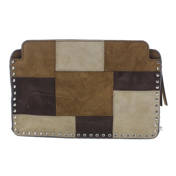 MICHAEL Michael Kors Womens Astor Messenger Handbag Leather Patchwork small