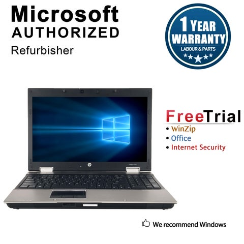 "Refurbished HP EliteBook 8540P 15.6"" Intel Core i5-520M 2.40GHz 4GB DDR3 320GB Windows 10 Pro 64 Bits 1 Year Warranty"