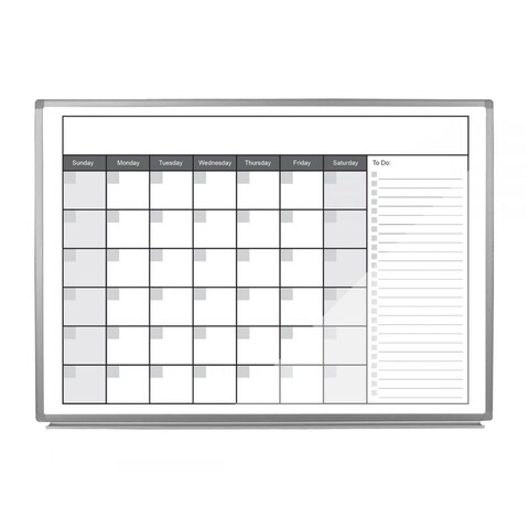 """Offex 48"""" x 36"""" Magnetic Dry-Erase Monthly Calendar"""