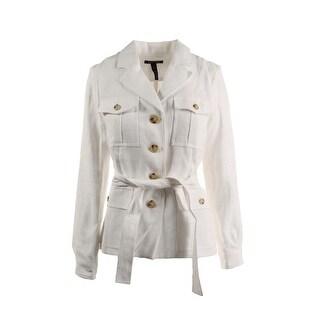 Lauren Ralph Lauren Womens Linen Notch Collar Jacket - 4