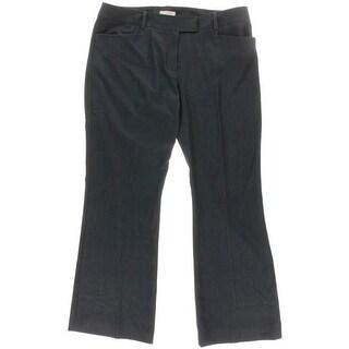 Tahari ASL Womens Petites GiGi Stretch Flat Front Straight Leg Pants - 12P