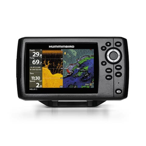 Humminbird Helix 5 CHIRP DI/GPS G2 Combo w/ 5 Color TFT Display & Down Imaging Sonar 410220-1
