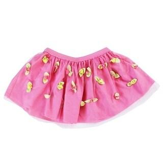 Azul Girls Pink Bibbidi Bobbidi Boo Rosette Embellished Skirt