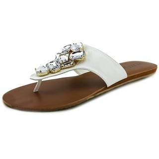 XOXO Sadelia Women Open Toe Synthetic White Thong Sandal