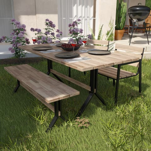 Havenside Home Shenley Contemporary Natural Wood Dining Table