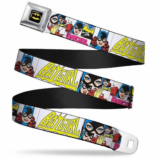 Batman Full Color Black Yellow Batgirl Panels White Pink Webbing Seatbelt Seatbelt Belt