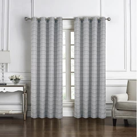 Daven Jacquard Single Grommet Curtain Panel - (1x) 54 x 90 in.