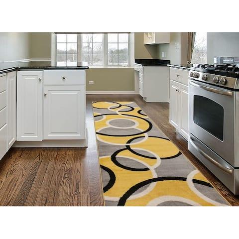 Modern Abstract Circles Area Rug