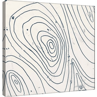 "PTM Images 9-100912  PTM Canvas Collection 12"" x 12"" - ""Indigo F"" Giclee Abstract Art Print on Canvas"