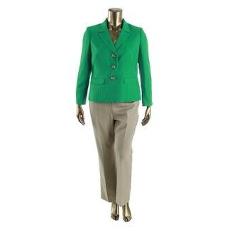 Le Suit Womens Petites Yacht Club Two Tone 2PC Pant Suit - 12P