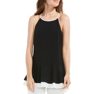 Vince Camuto Womens Peplum Top Layered Halter (3 options available)