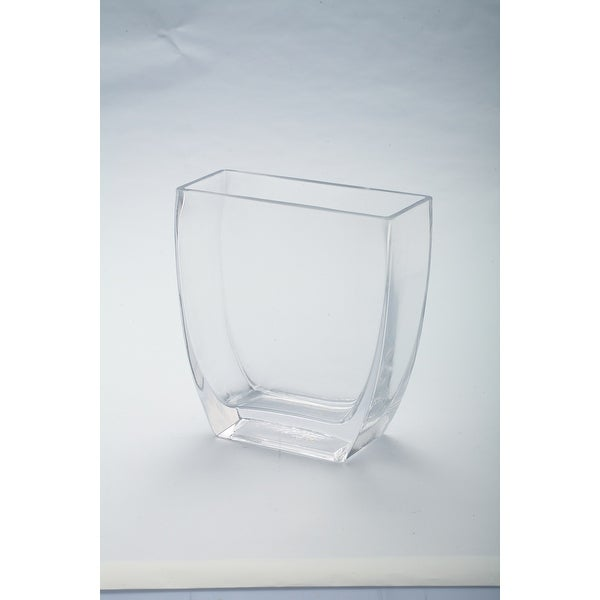 """7"""" Clear Tapered Rectangle Tabletop Glass Vase - N/A"""