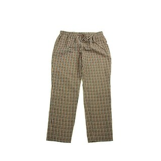 Tommy Hilfiger Seed Pearl Multi Printed Cropped Soft Pants M