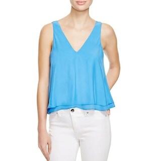 Parker Womens Casual Top Silk Sleeveless