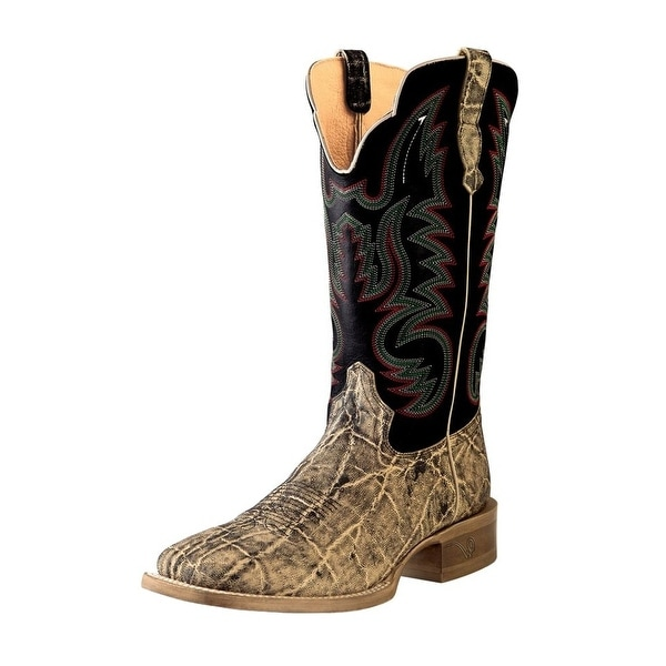 Outlaw Western Boots Mens Broad Square Straps Oryx Adrian Black