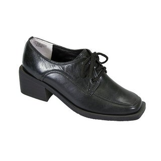 PEERAGE Moya Women's Wide Width Leather Lace-Up Oxford Shoes