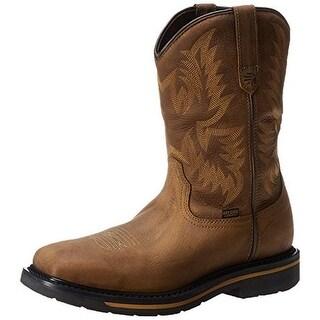 Lacrosse Mens Tallgrass Square Leather Plain Toe Work Boots - 8 medium (d)