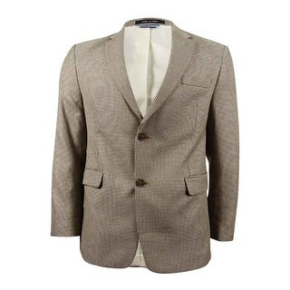 Tommy Hilfiger Men's Houndstooth Classic-Fit Sport Coat (40S, Brown) - Brown - 40s