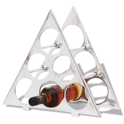 vidaXL Wine Stand for 6 Bottles Silver Aluminum