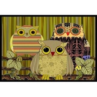 Carolines Treasures PJC1091MAT Fall Wisdom Owl Indoor & Outdoor Mat 18 x 27 in.