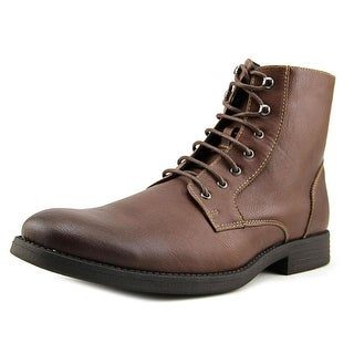 RW by Robert Wayne Ellis Men  Plain Toe Leather Brown Boot