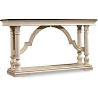 "Hooker Furniture 5481-85002 62"" Long Rubberwood Console Table from the Leesburg Collection - casual antique white"