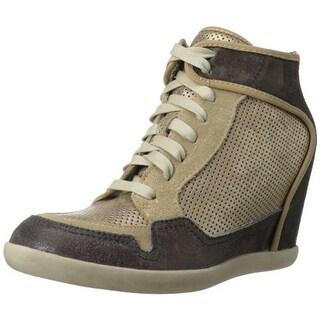 Nicole Womens Carly Leather Two Tone Fashion Sneakers - 8.5 medium (b,m)