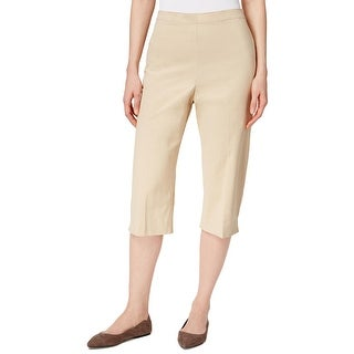 Alfred Dunner Womens Capri Pants Textured Classic Fit