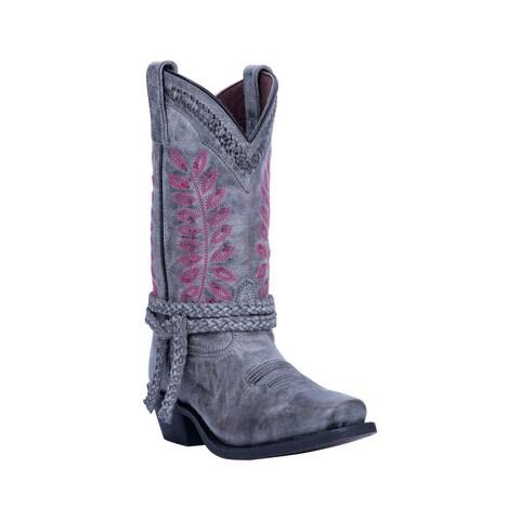 "Laredo Western Boots Womens 11"" Shaft Fern Square Toe Gray"