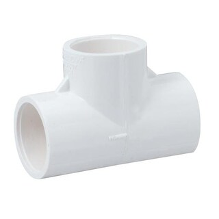 Genova Products 31405CP 1//2-Inch PVC Pipe Tee 10 Pack
