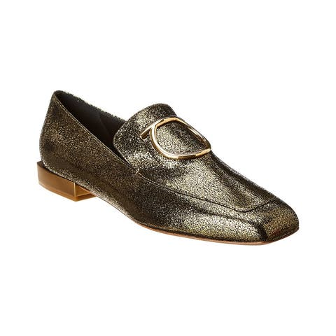 Salvatore Ferragamo Lana Metallic Leather Loafer