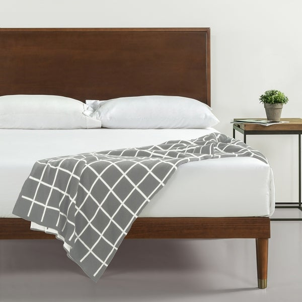 Priage by Zinus Deluxe Mid-century Wood Platform Bed. Opens flyout.