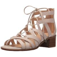 Franco Sarto Womens Ocean Leather Open Toe Casual Strappy Sandals