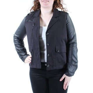 Womens Black Casual Button Down Jacket Size XL