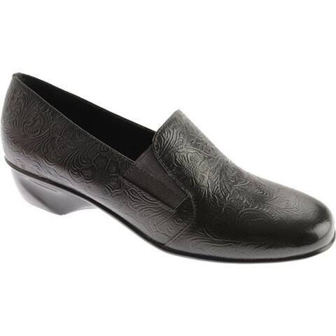 Walking Cradles Women's Teri Black Tooled Leather