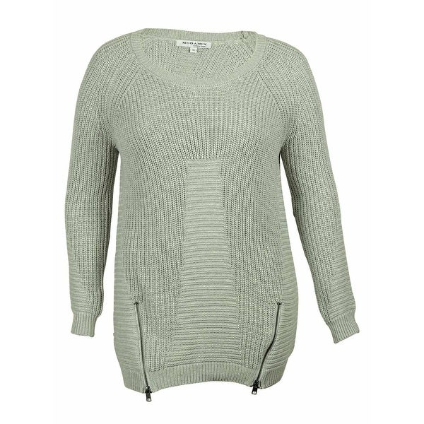 Shop Modamix Womens Cable Knit Sweater Winter Grey On Sale