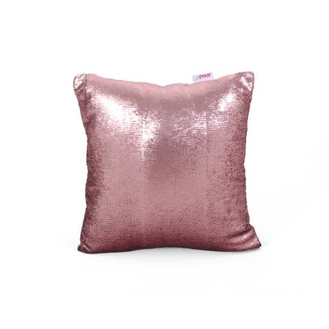 Ballina Glam Reversible Sequin Square Pillow Cover by Christopher Knight Home