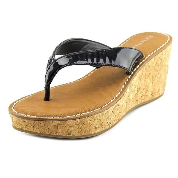 Rampage Daley Women Open Toe Synthetic Black Wedge Sandal