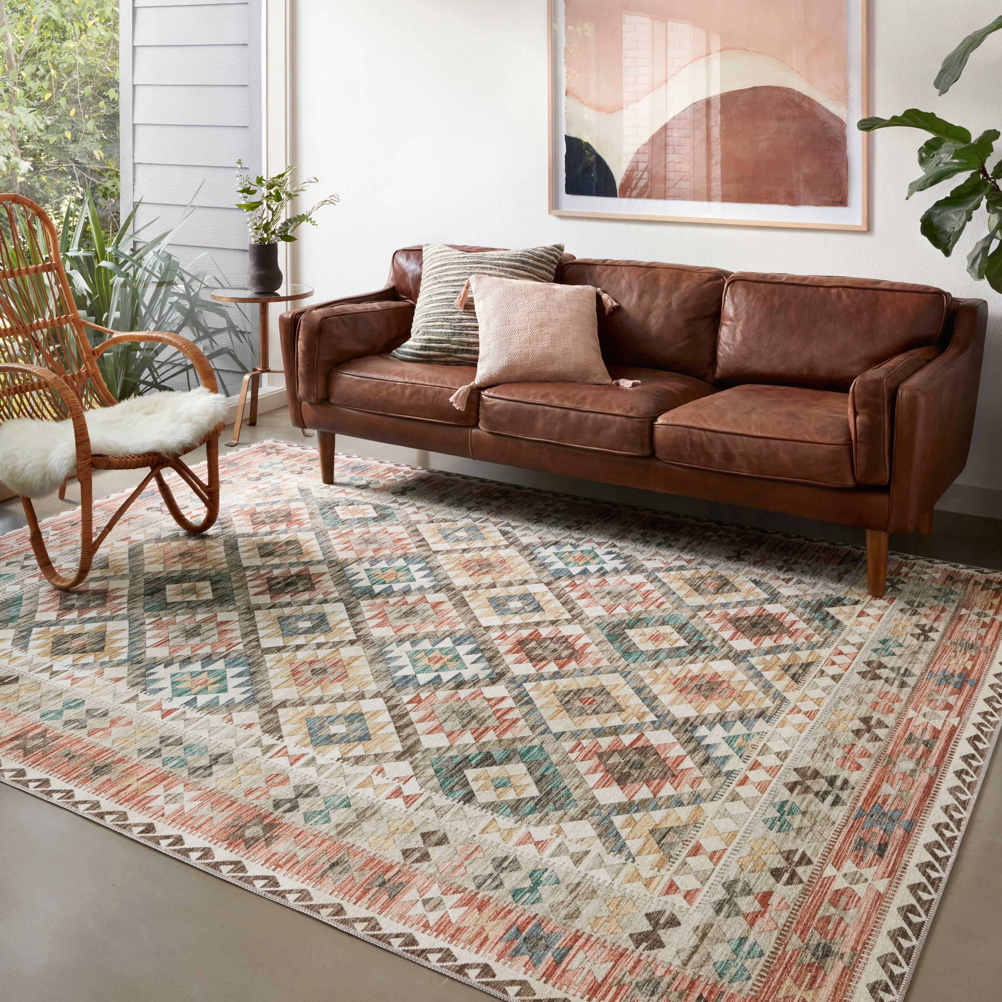 Shop For Alexander Home Escalante Southwestern Border Area Rug Get Free Delivery On Everything At Overstock Your Online Home Decor Store Get 5 In Rewards With Club O 32591201